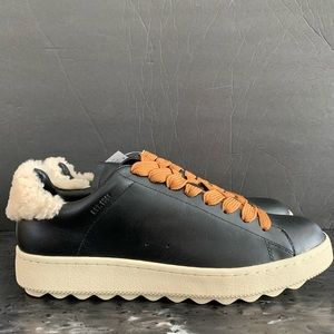 COACH Men's Leather shearling sheep fur Size 9.5